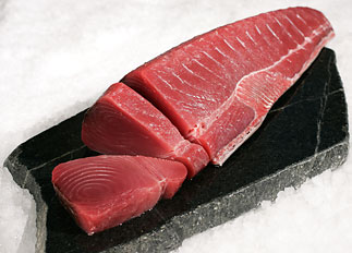 Pepper seared ahi with brandied brown sauce recipe for Sashimi grade fish