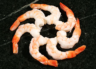 Cooked Cocktail Tiger Prawns